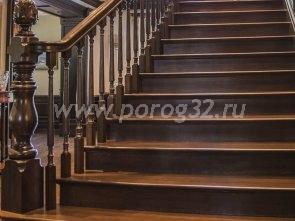 Деревянные лестницы из бука в Екатеринбурге - Изготовление
